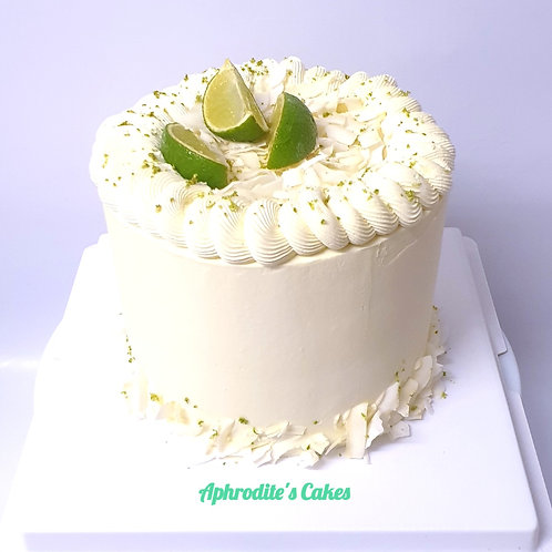 Lime&Coconut Vanilla White Cake 6'' 6-14portions