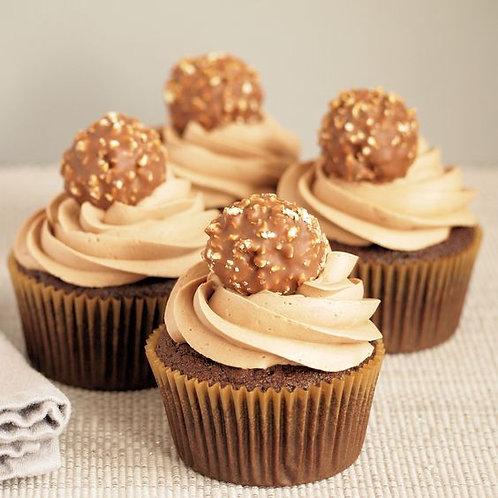 6 Ferrero Rocher Chocolate Cupcakes