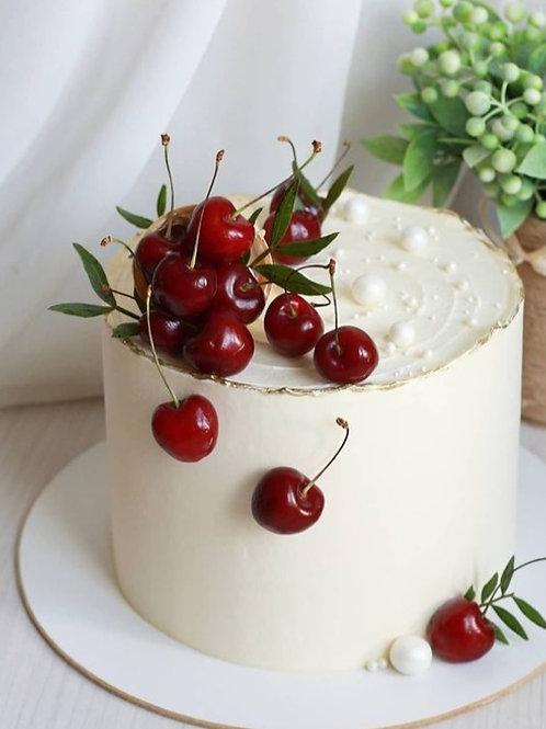 White Forest Gateau Fresh Cream 6''6-14portions