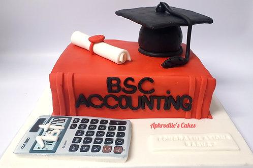 Textbook & hat student graduation cake 6'' 8-20portions