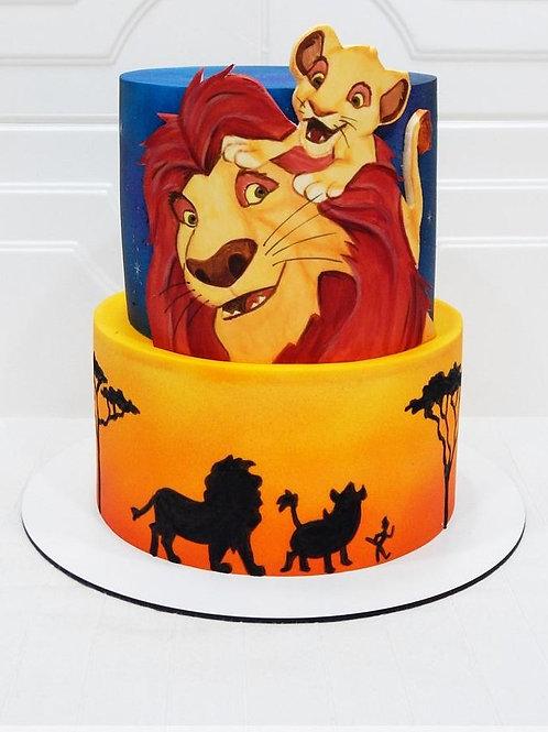 Lion King Simba Safari Jungle Cake- 2 tier