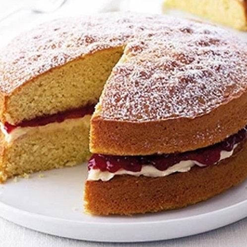 Victoria  Sponge Classic Cake Strawberry/Raspberry 7'' 6-10portions