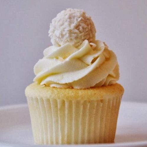 6 Vanilla Raffaello Coconut Cupcakes