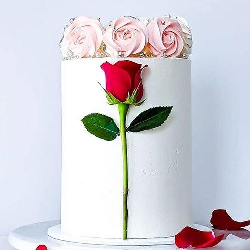 Belle Rose& Meringue white cake  6'' 12-24portions