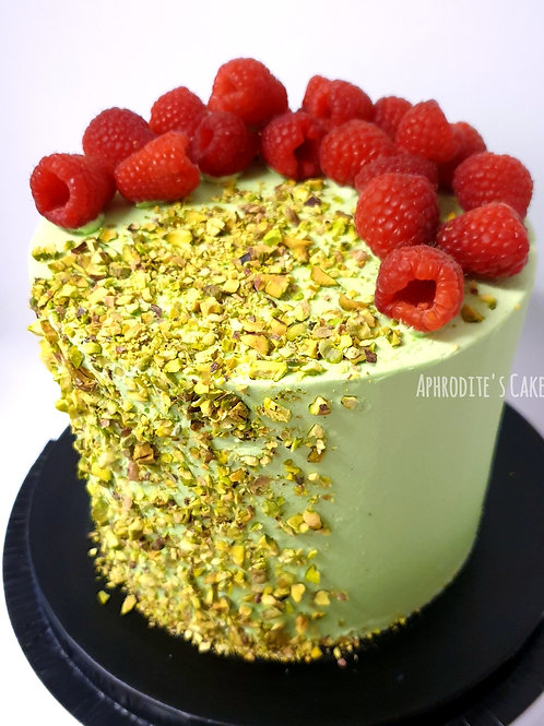 Raspberry Pistachio Cake 6''6-14portions