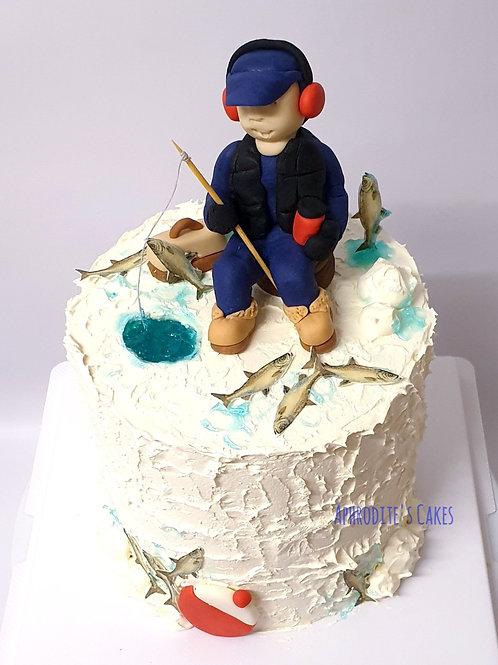 Fishing theme cake 6'' 6-14portions
