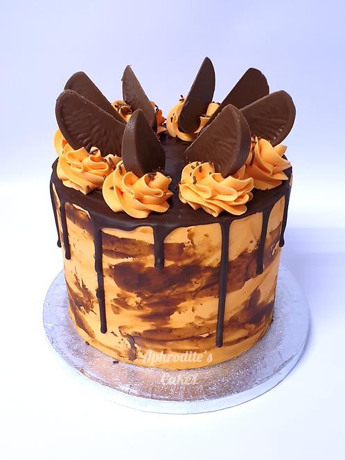 Terry's Chocolate Orange Drip Cake 6'' 6-12ppl