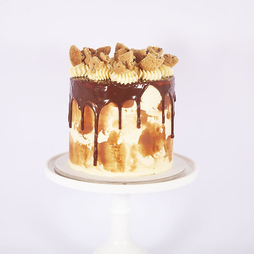 Milk, Cookies and Cream Cake 6'' 6-14portions