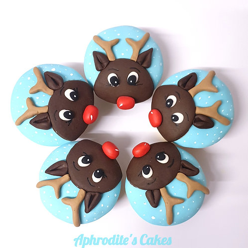6 Rudolph the Red-nosed Reindeer Christmas Cupcakes
