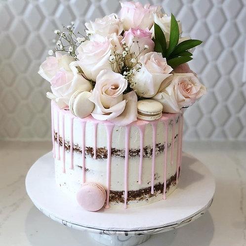 One Tier Wedding Cake 6''6-14portions