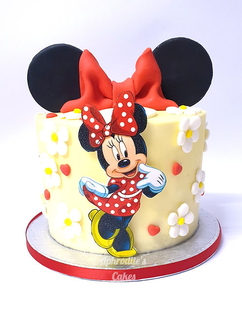 Minnie/Mickey Mouse Cake  6'' 6-12 ppl
