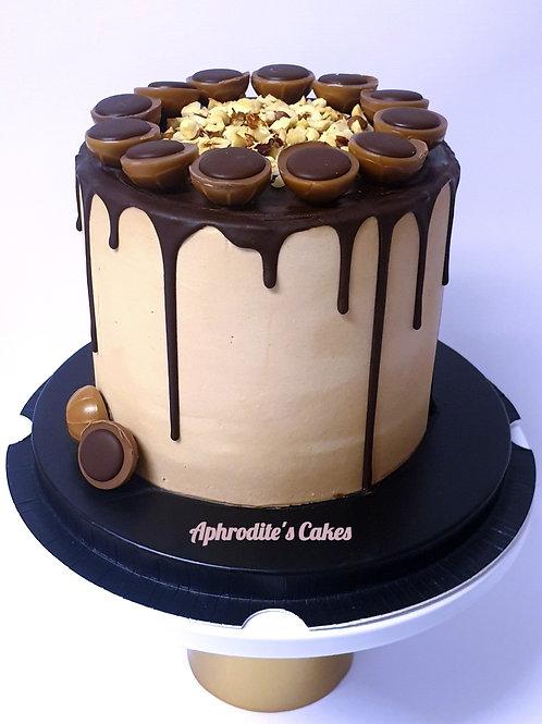 Chocolate Toffifee Hazelnut Caramel Cake 6'' 6-14portions