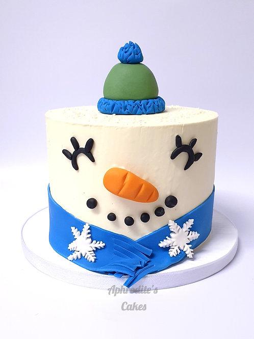 Snowman Christmas Cake  6'' 6-12ppl