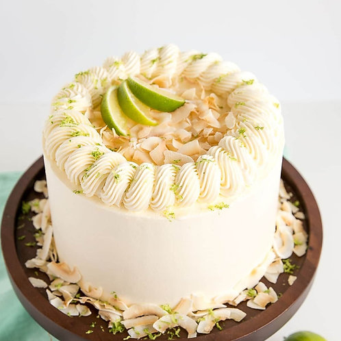 Lime&Coconut Vanilla White Cake 6'' 6-14portions