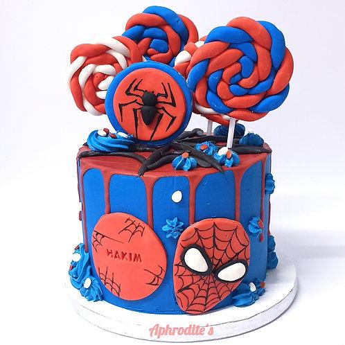 Spider Man Marvel Avengers Cake 6''6-14portions