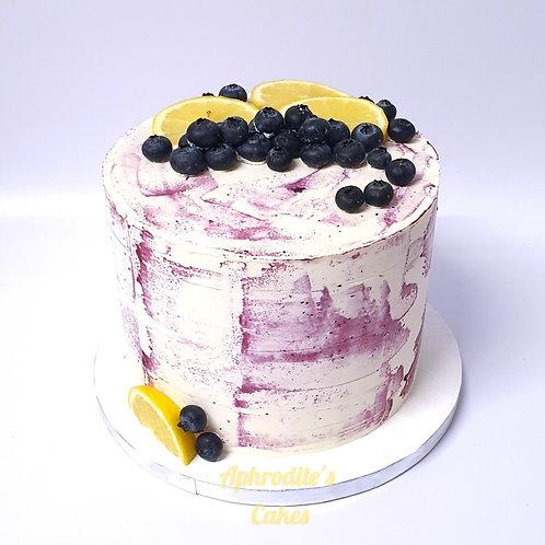 Lemon Blueberry Cake 6'' 6-12 ppl