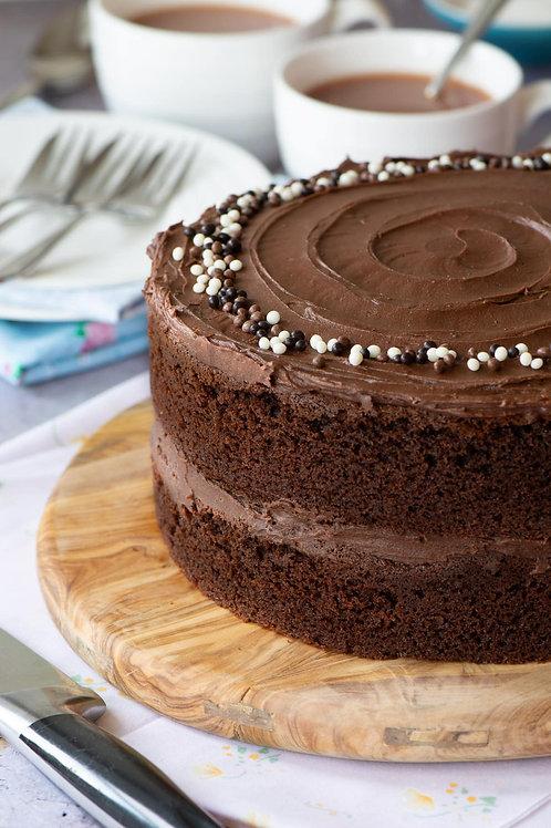 Classic Chocolate Sponge Cake 7''8-10portions