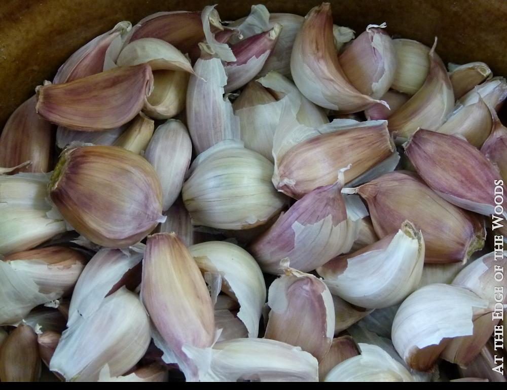 garlic cloves sorted into a bowl