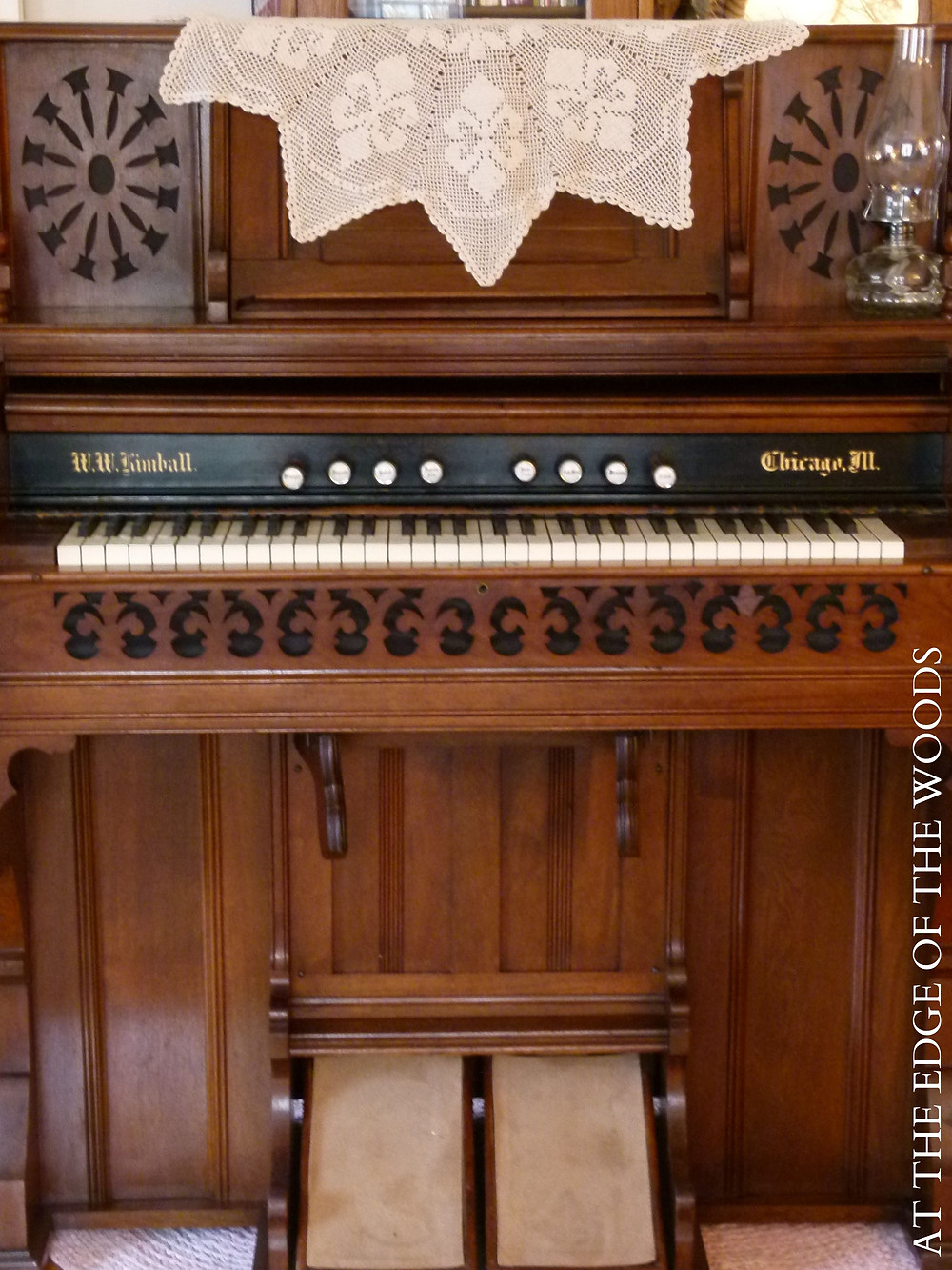 the cleaned and finished pump organ