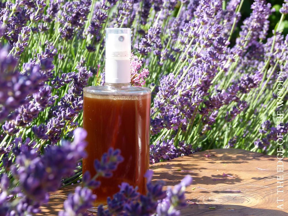 vanilla glen body spray among lavender