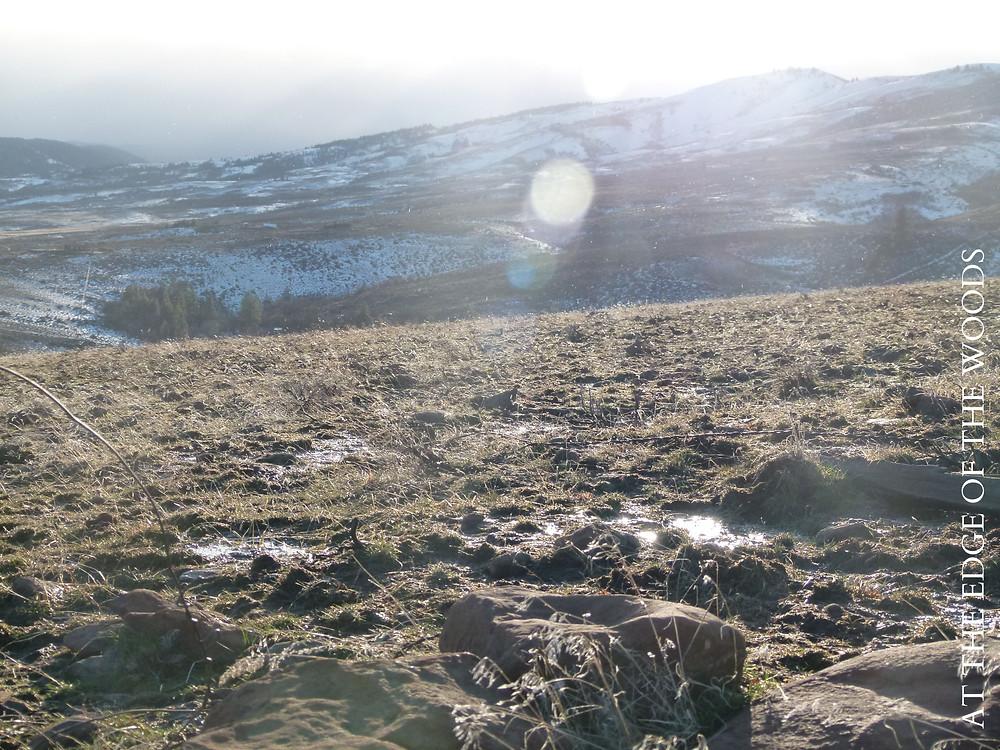 snowmelt flowing across the landscape