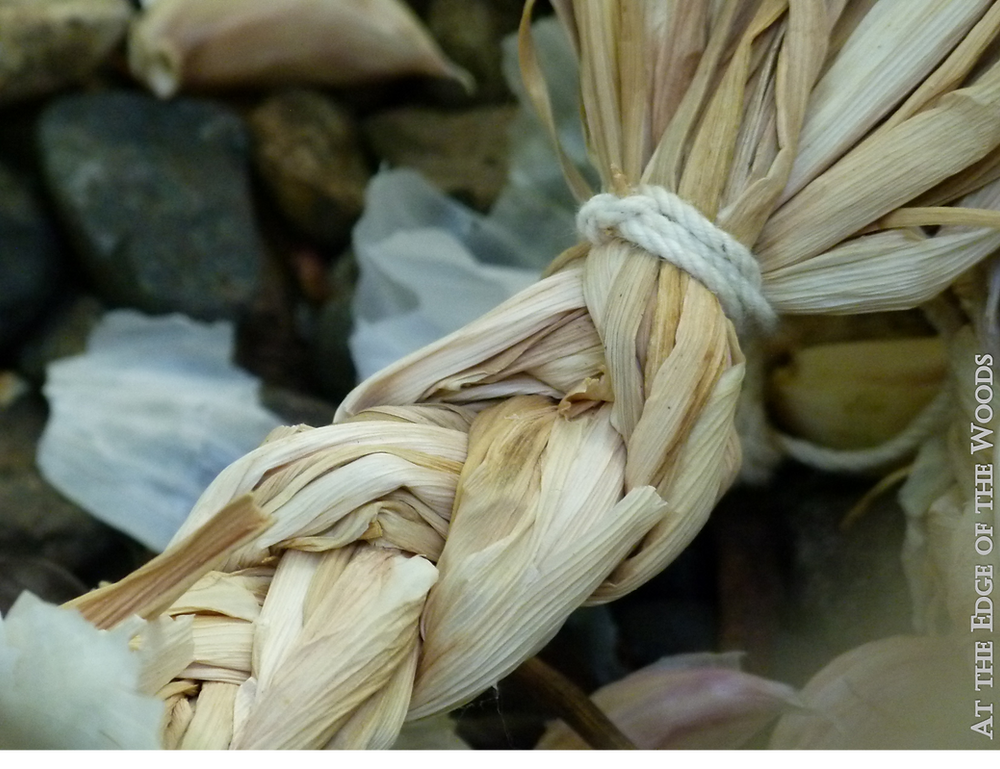 discarded garlic braids