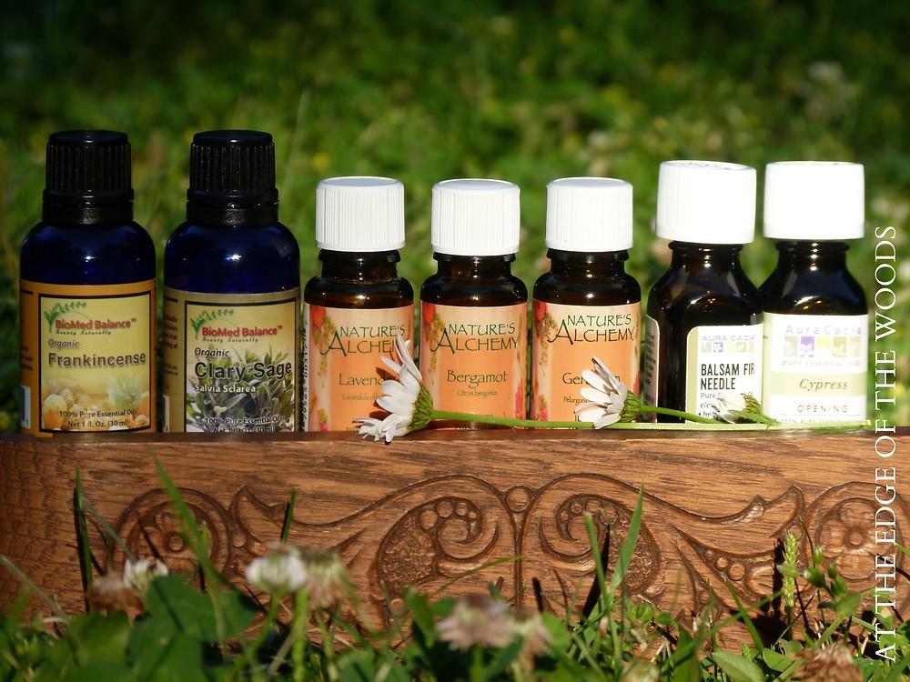 essential oils used to make the body spray