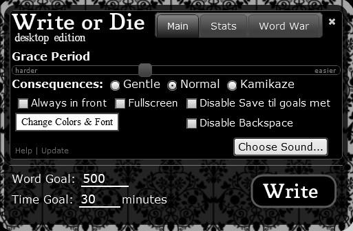 Write or Die Desktop Application