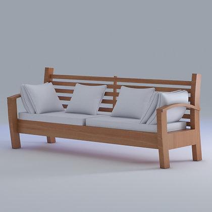Sofa 3 lug. com almofadas