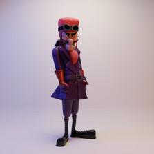 Modelagem de personagem Dick Vigarista