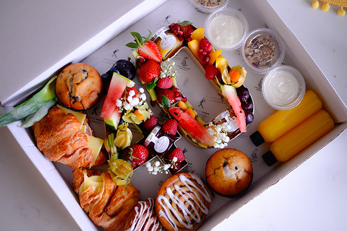 Numbers Breakfast Grazing Platter for 2 or a small family