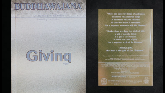 Buddhawajana Book Series - Giving - Volume 13