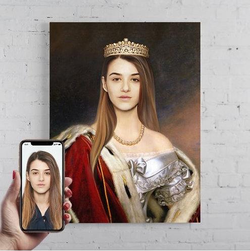 Kongelig portrett for henne