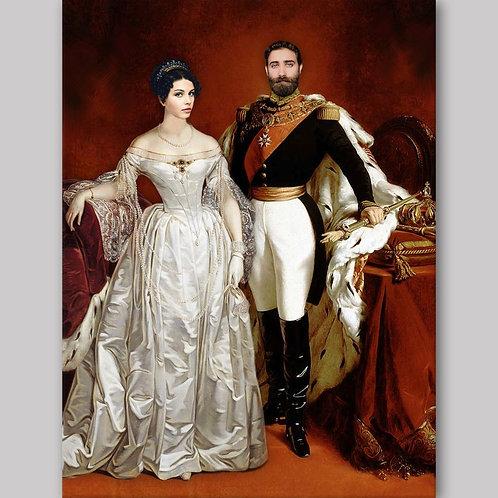 Personlig royal portrett for par