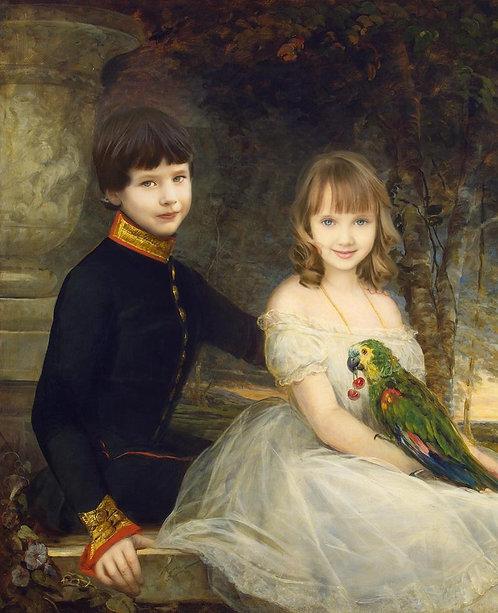 Kongelig portrett for barn