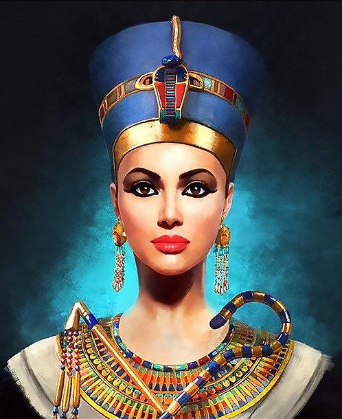 Egyptian Queen Nefertiti - digital portrait for her
