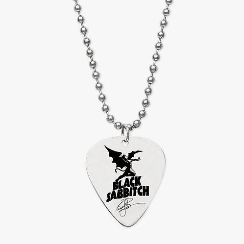 Black Sabbitch Pick Necklace