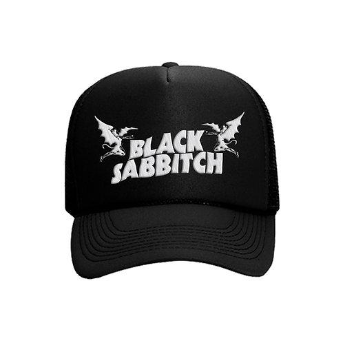 Black Sabbitch Logo Trucker Hat