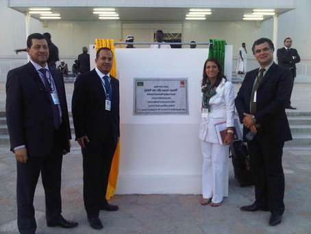 Opening ceremony of Rabat Al-Bahr New Town in Mauritania.