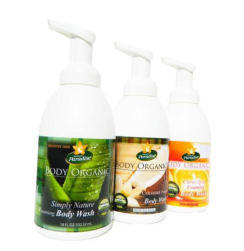 BULK BODY WASH- 2 Body Organic Foaming Body Wash