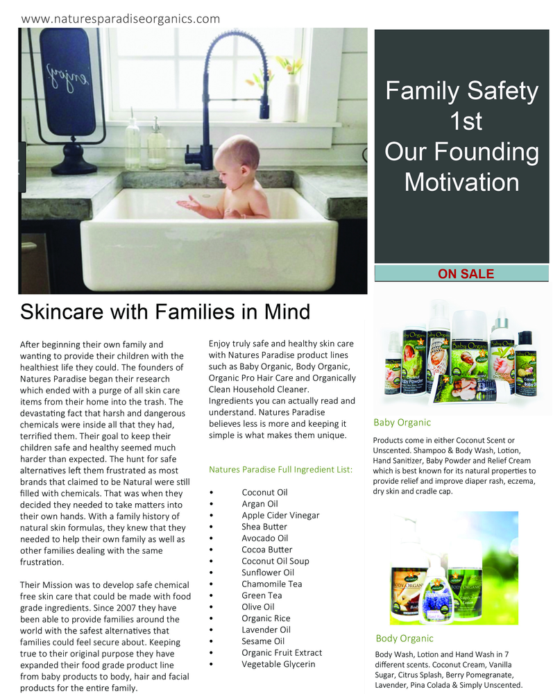 Family Safety and Skin Care Products
