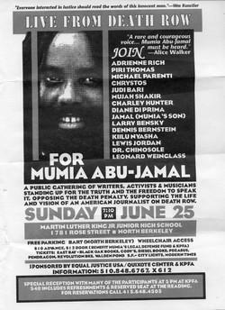 Mumia Death Row Flyer