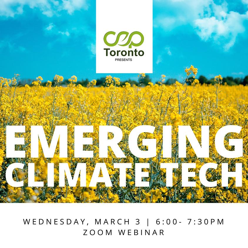 CEP Toronto Presents: Emerging Climate Tech