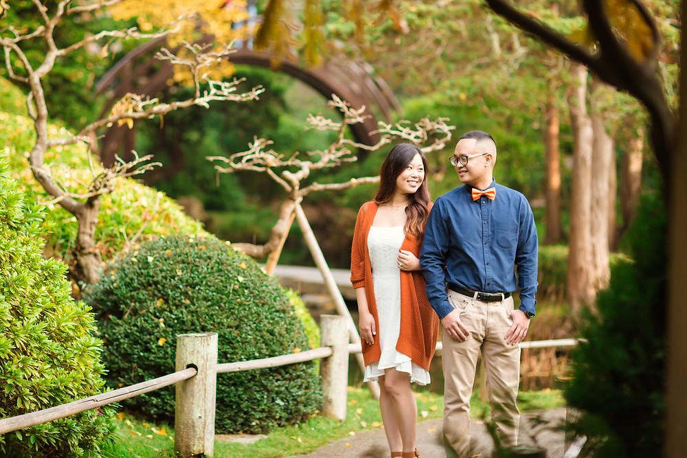 Japanese Tea Garden Engagement Session