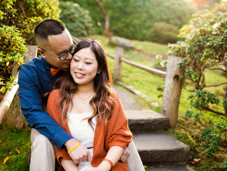 Japanese Tea Garden Engagement Session