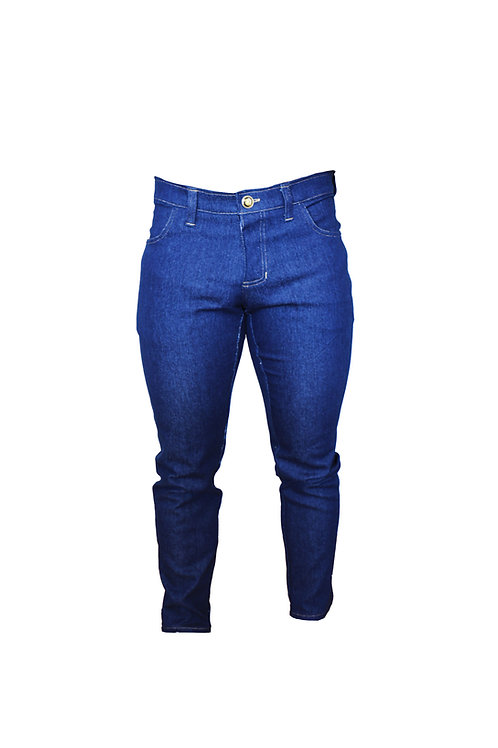 Slim Fit Jeans with Gold Threads