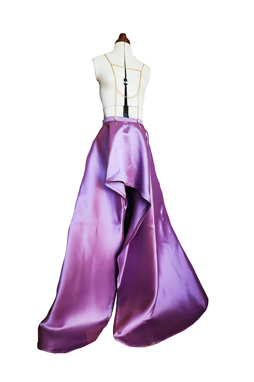 Chain Embellished Long Gown Skirt