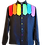 Thumbnail: Rainbow Slips Black Linen Shirt