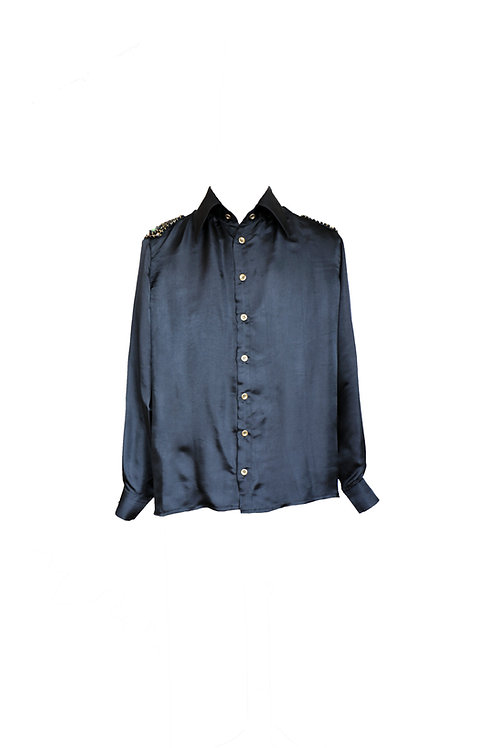 Black Royal Silk Shirt