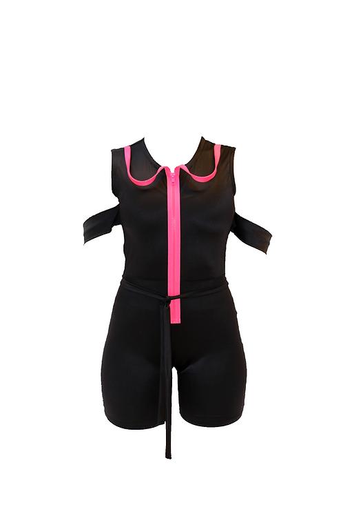 Black Color Jumpsuit with Zipper
